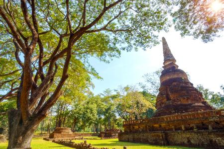 Wat Nang Phaya Temple at Si Satchanalai Historical Park, a UNESCO World Heritage Site in Sukhothai, Thailand