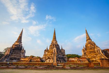 Wat Phra Si Sanphet temple in Ayutthaya Historical Park, a UNESCO world heritage site, Thailand