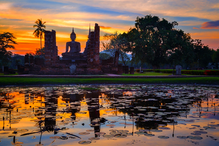 Wat Mahathat Temple at Sukhothai Historical Park, Thailand