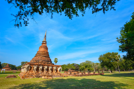 Wat Sorasak Temple at Sukhothai Historical Park