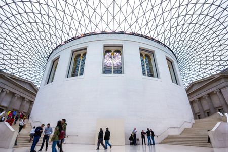 LONDON, UNITED KINGDOM - MAY 12 2018: The British Museum is a public institution dedicated to human history, art and culture and is among the largest and most comprehensive in existence.