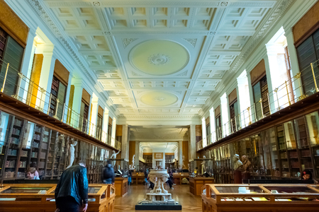 LONDON, UNITED KINGDOM - MAY 12 2018: Enlightenment Gallery at British Museum - a public institution dedicated to human history, art and culture, it's one of the largest and most comprehensive museum