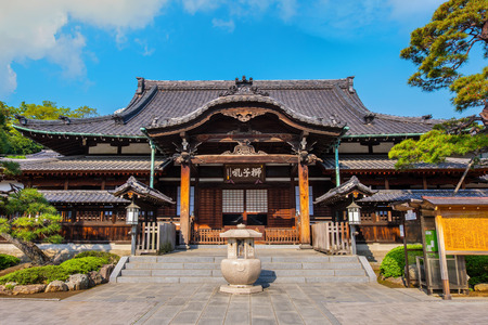 TOKYO, JAPAN - APRIL 20 2018: Sengakuji Temple famous for its graveyard where the