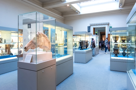 LONDON, UNITED KINGDOM - MAY 12 2018: Acient Greece and Rome Gallery at British Museum - a public institution dedicated to human history, art and culture it's one of the largest and most comprehensive museums Éditoriale