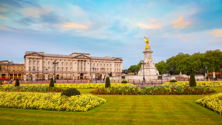 London, UK - May 13 2018: Buckingham Palace is the London residence and administrative headquarters of the monarch of the United Kingdom, located in the City of Westminster Editorial