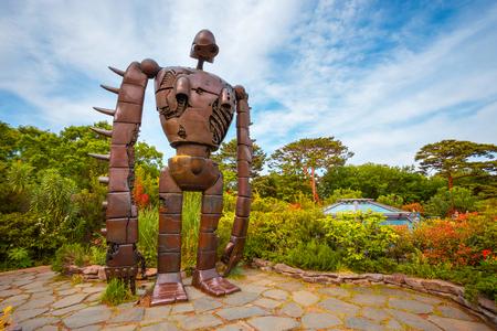 Tokyo, Japan - April 29 2018: Statue of the robot from the Studio Ghibli film Laputa: Castle in the Sky at Ghibli museum Publikacyjne