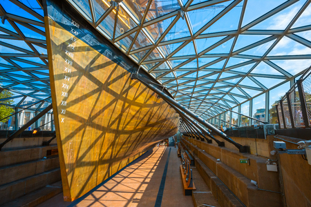Cutty Sark, the historical tea clipper ship in Greenwich, London, UK London, UK - May 21 2018: Cutty Sark built in 1869, one of the last and fastest tea clippers, she was preserved as a museum ship, a