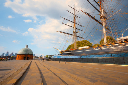 Cutty Sark, the historical tea clipper ship in Greenwich, London, UK London, UK - May 21 2018: Cutty Sark built in 1869, one of the last and fastest tea clippers, she was preserved as a museum ship, a part of the National Historic Fleet and a popular tour