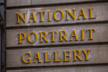 London, United Kingdom - May 13 2018: National Portrait Gallery opened in 1856, the worlds first portrait gallery, houses a collection historically important and famous British people portraits.