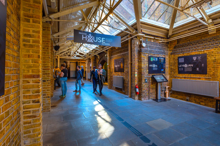 London, UK - May 15 2018: Tower Bridge Exhibition is a must see exhibitions inside Tower Bridge, gaze beneath its glass floor, visit the Victorian engine rooms and discover the inner workings of the bridge