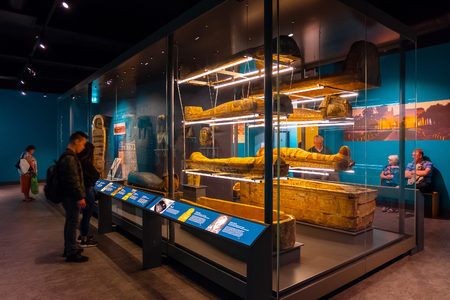 Liverpool, UK - May 16 2018: World Museum Liverpool houses extensive collections of archaeology, natural and physical sciences, included the Natural History Centre and a planetarium Redakční