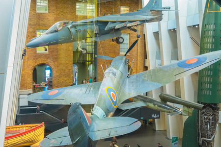London, UK - May 22 2018: Imperial War Museums (IWM)  intended to record the civil and military war effort and sacrifice of Britain and its Empire during the First World War Redakční