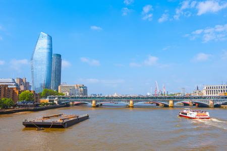 London, UK - May 23 2018: View of River Tahmes from Millenium Bridge (London Millennium Footbridge)
