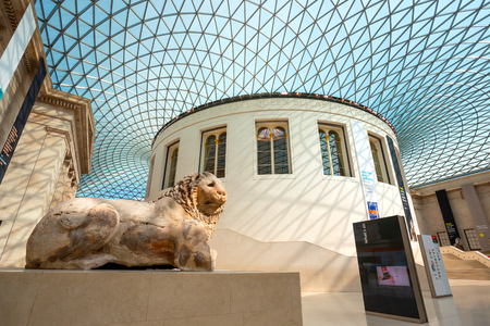 London, UK - May 20 2018: The British Museum is a public institution dedicated to human history, art and culture and is among the largest and most comprehensive in existence. Éditoriale