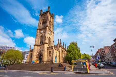 Liverpool, UK - May 16 2018: St Luke's Church a former Anglican parish church, which is now a ruin, built between 1811 and 1832 badly damaged during the Liverpool Blitz in 1941 Фото со стока - 135434738