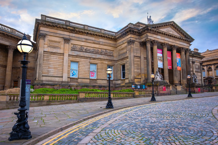 Liverpool, UK - May 16 2018: Walker Art Gallery at William Brown Street in Liverpool City centre, one of the largest art collections in England dates from 1819