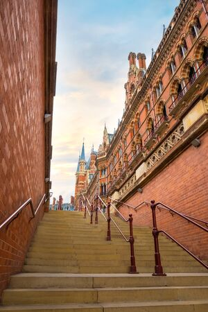 St Pancras station is a central London railway terminus. It is the terminal station for Eurostar continental services from London to France, Belgium and Netherlands