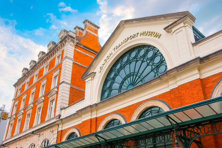 London, United Kingdom - May 12 2018: The London Transport Museum in Covent Garden, conserves and explains the transport heritage of Britains capital city
