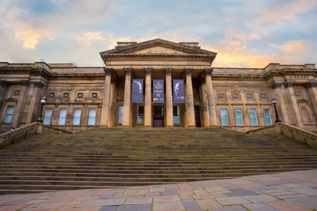 Liverpool, UK - May 16 2018: World Museum Liverpool houses extensive collections of archaeology, natural and physical sciences, included the Natural History Centre and a planetarium Sajtókép
