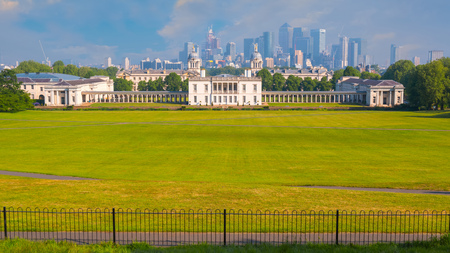 London, UK - May 21 2018: The Queens House built between 1616 and 1635 for Anne of Denmark, the Queen of King James. Now its a museum which houses collection of maritime paintings and portraits