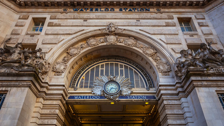 London, UK - May 13 2018: Waterloo station is the terminus of the South Western main line to Weymouth via Southampton, the West of England main line to Exeter via Salisbury