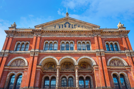 London, UK - May 20 2018:  Victoria and Albert Museum  founded in 1852, its the worlds largest museum of applied and decorative arts and design houses permanent collection over 2.27 million items