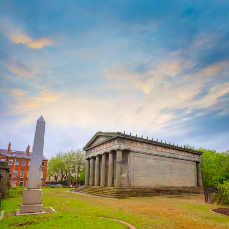 Liverpool, UK - May 16 2018: Old Chaple of St. James Cemetery by John Foster at Liverpool Cathedral, the Oratory houses 19th century memorial sculpture, its part of the National Museums Liverpool Publikacyjne