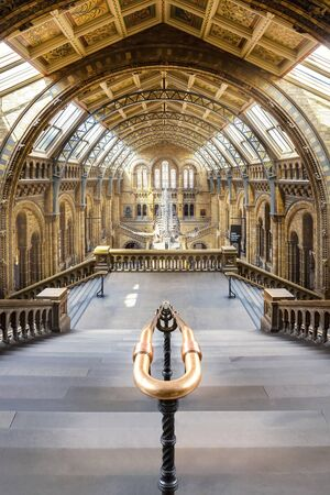 LONDON, UNITED KINGDOM - MAY 14 2018: The Natural History Museum houses a vast range of specimens of natural history, science specimens comprising 80 million items in 5 main collections Editorial