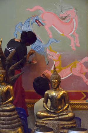 ism: Lai thai art Stock Photo