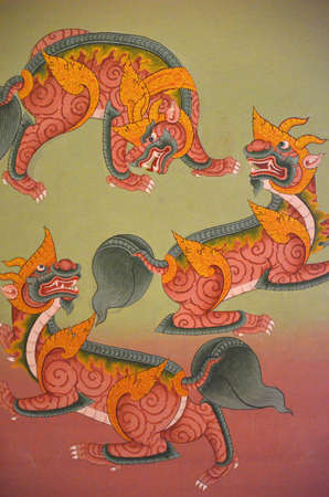 ism: Lai thai art Editorial