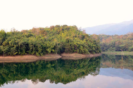 forest, reservoir, Khao Laem National Park, Kanchanaburi, Thailand photo