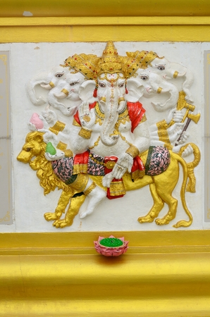 god ganesh: beautiful Hindu god Ganesh on the wall Stock Photo
