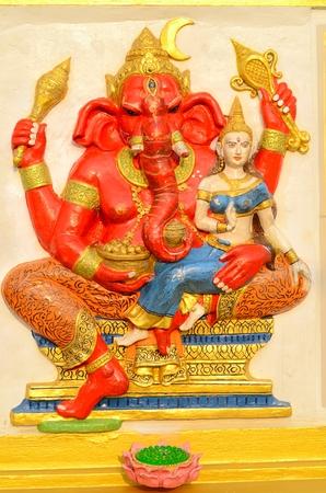 hindu god: beautiful Hindu god Ganesh on the wall Stock Photo