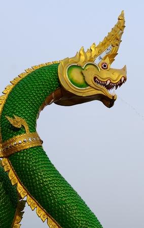 Closeup head the Statue of King of Nagas Symbol photo