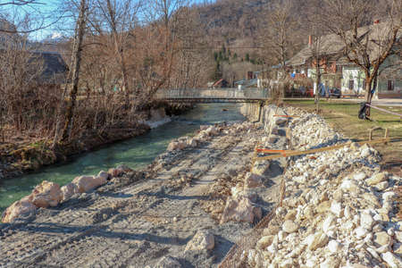 fixing up river bank