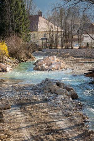 big rocks in river
