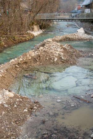 river split in two parts