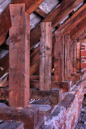 wooden beams close up Imagens