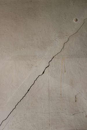 crack on a old wall