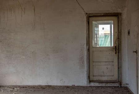 old rustic door in building