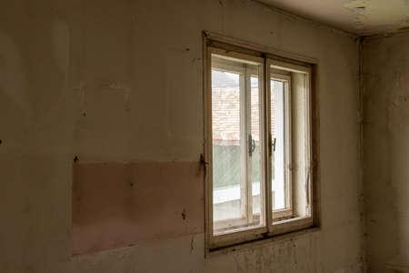 old rustic window Imagens