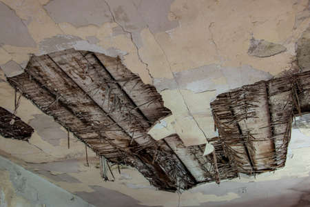 decaying old ceiling Imagens