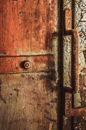 old rustic iron handle Imagens