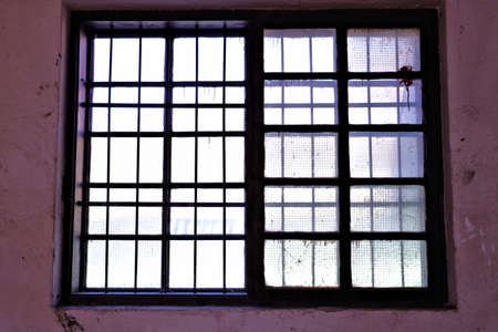 blurry window in old building