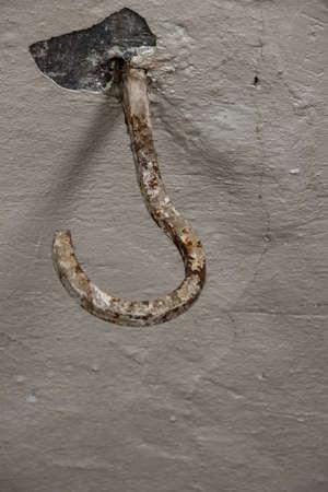 old rustic hook on ceiling Imagens