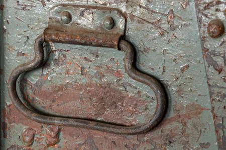 old rustic metal handle