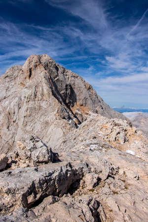 View toward Triglav peak sunny day