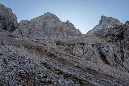 Hiking path towards Spik mountain peak