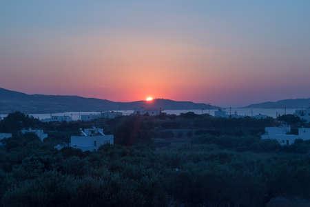 Sunrise on Milos island Greece, summer time