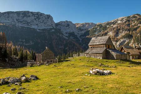 Mountain hut on mountain pasture Laz